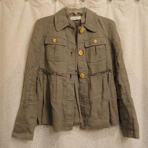 Zara woman swing jacket size medium linen